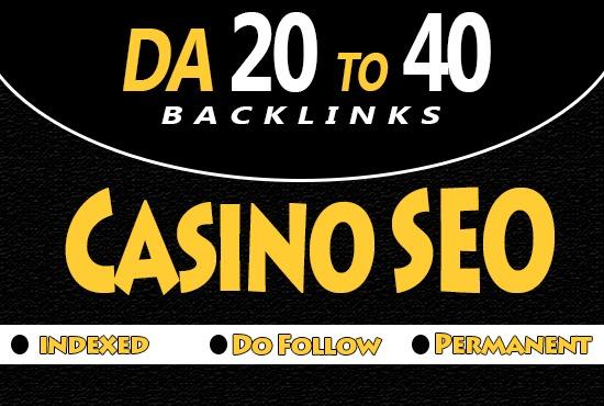 Provide 35 Pro Casino PBN backlinks Da 20 to 40