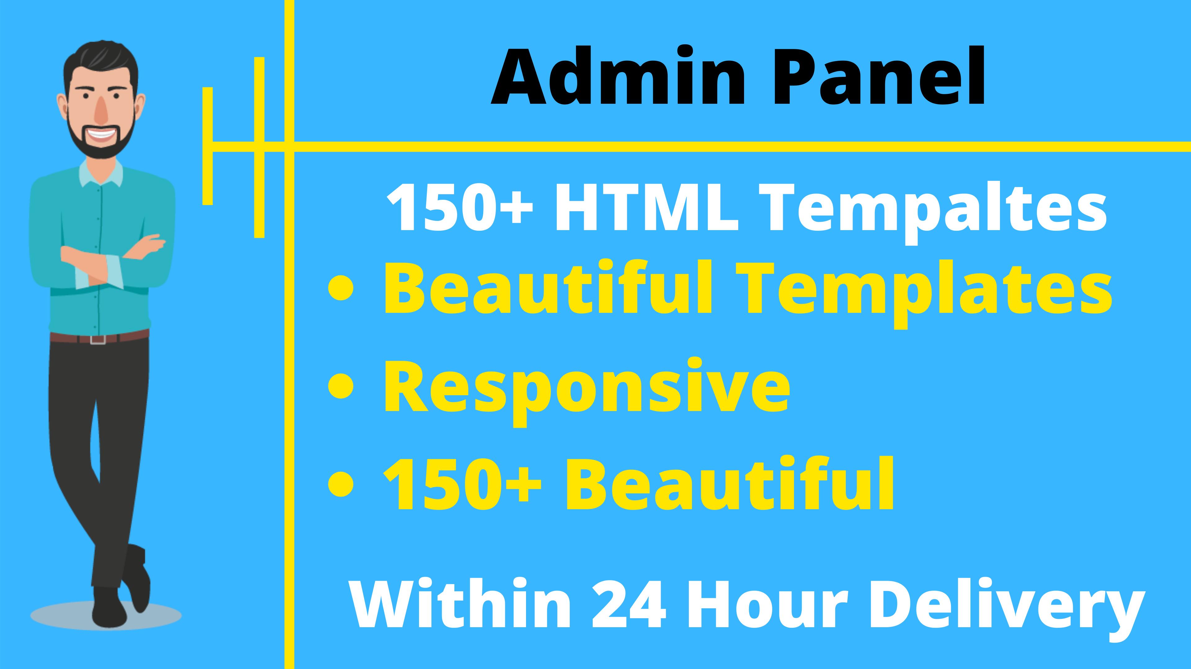 150+ HTML Responsive Admin Panel Templates