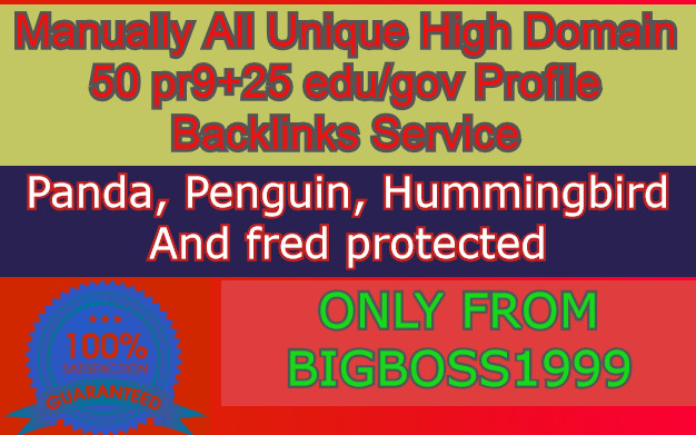 50 PR9 + 25 Edu/Gov High SEO Authority Profile Backlinks Service - Skyrocket your Google RANKINGS