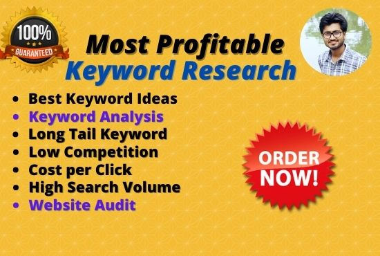 I will do 35 Profitable SEO keyword research and Analysis for google Top ranking