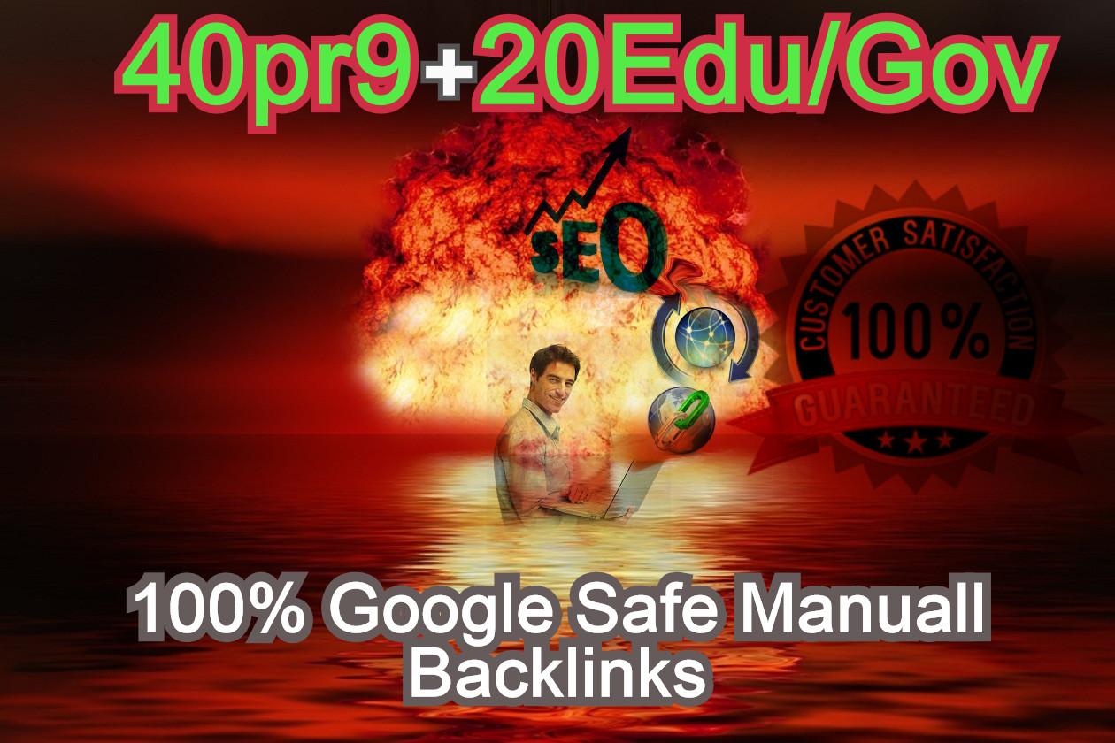 40 PR9 + 20 EDU/GOV Safe SEO High Authority profile Backlinks - Skyrocket your Google RANKINGS