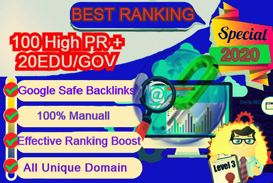 I will Create 100 High Pr With 20 Edu/Gov Profile Backlinks