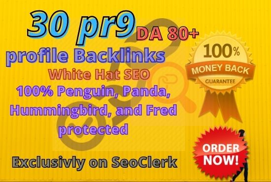 Manually do 30 PR9 High SEO Authority Profile Backlinks - Skyrocket your Google RANKINGS