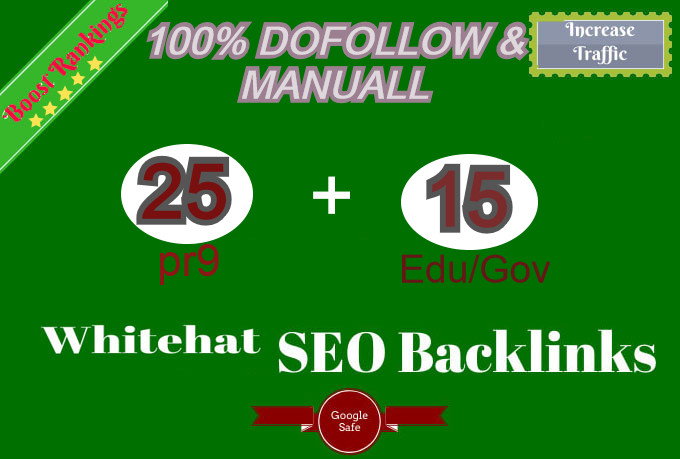 I Will Manually Create 25 pr9 and 15 EDU/GOV Dofollow profile Backlinks Service
