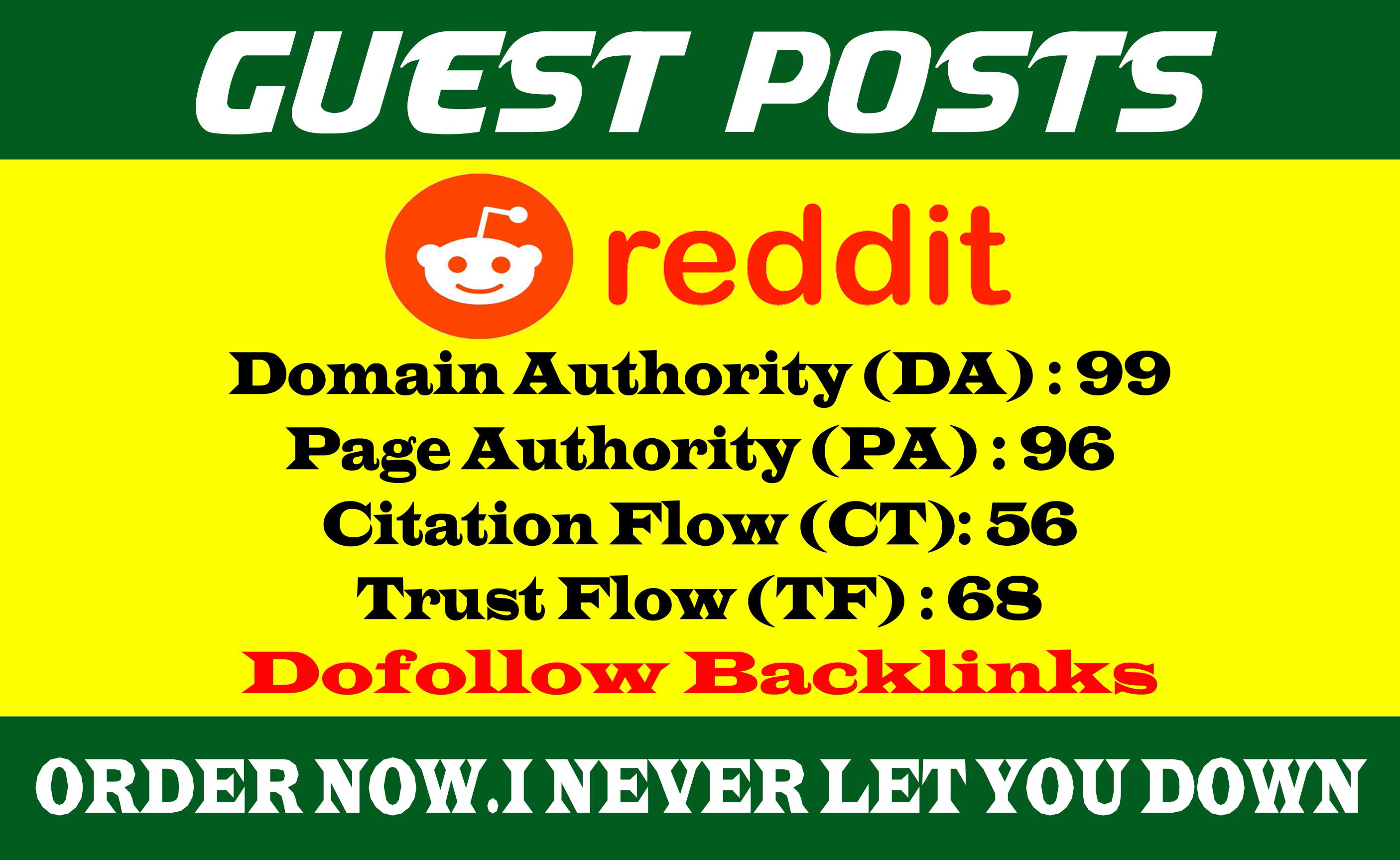 Write And Publish A Guest Post On REDDIT DA 99, PA 96 With Dof0llow Backlinks