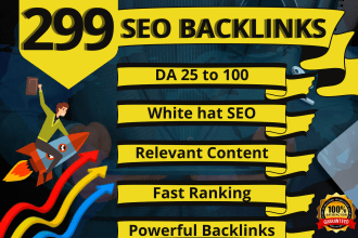 I will build 299 dofollow seo backlinks from high authority websites white hat off page