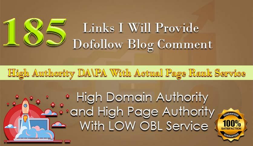 I will create 200 dofollow blog comment backlinks on high da pa
