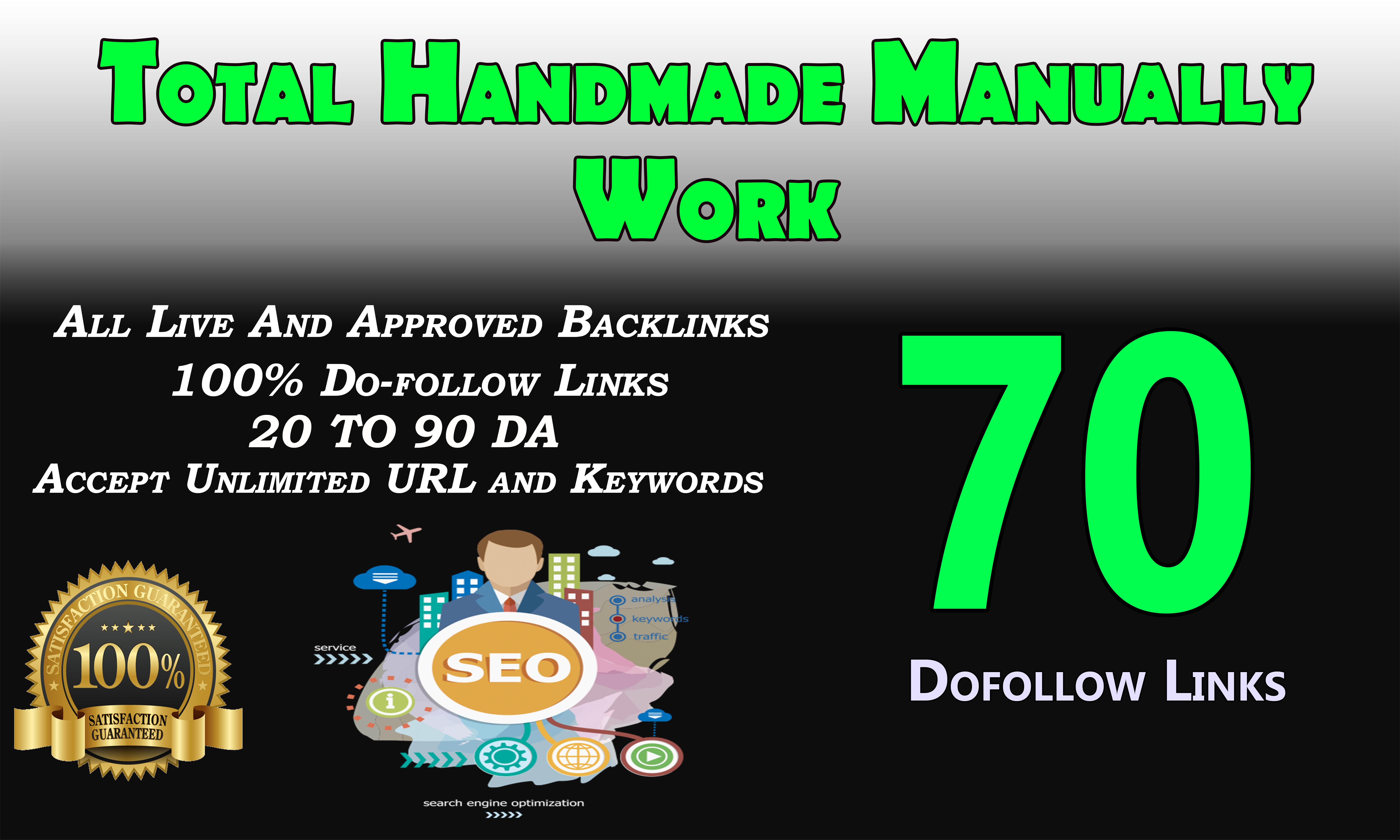 Provide 70 plus dofollow blog comments backlinks
