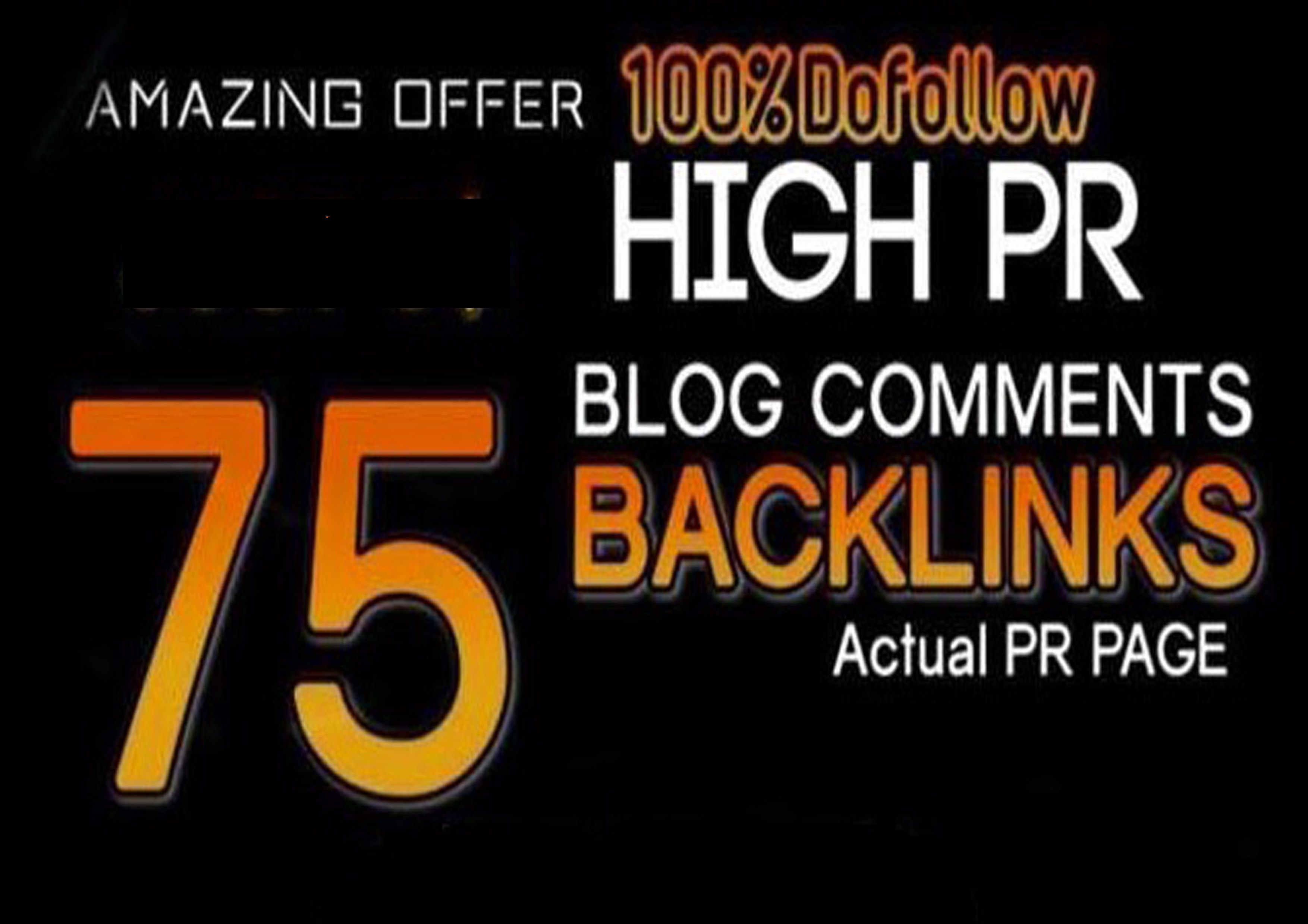 i will do 75 Backlinks with high domain authority