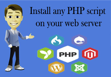 i will install any PHP script on your web server