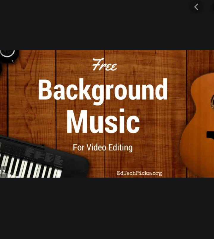 Edite your video anytype background musik