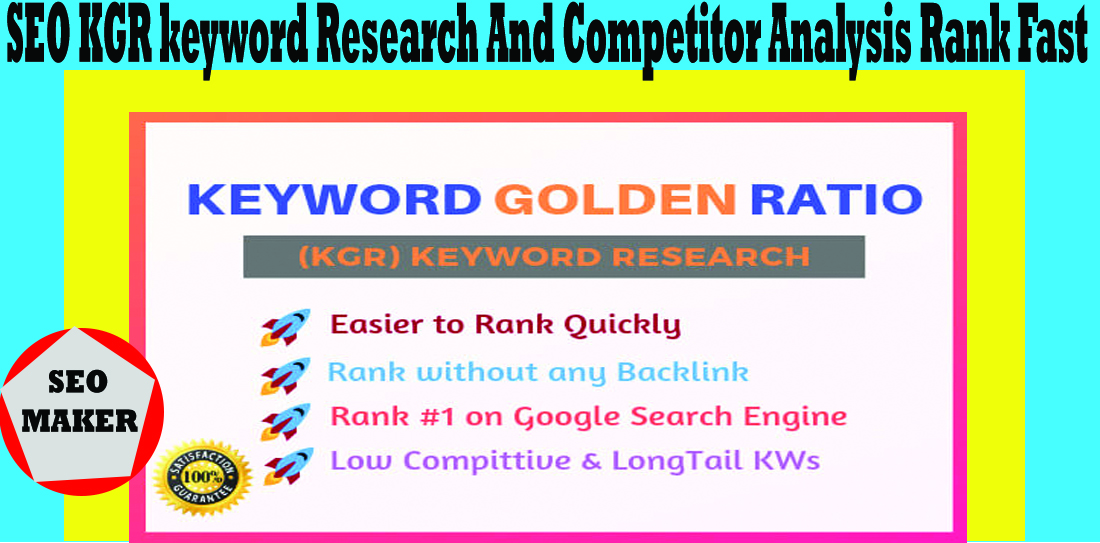 10 SEO KGR keyword research and competitor analysis Rank Fast