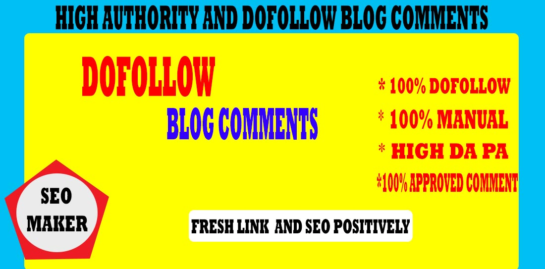 I will make 601 high authority Do follow blog comments backlinks RANK 1ST 2021