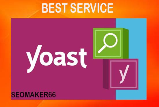 20 page I will do wordpress yoast SEO on page optimization 2020