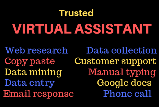 I will be your trusted virtual assistant