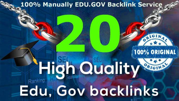 I will provide 20 EDU/GOV backlinks and 65 blog comment