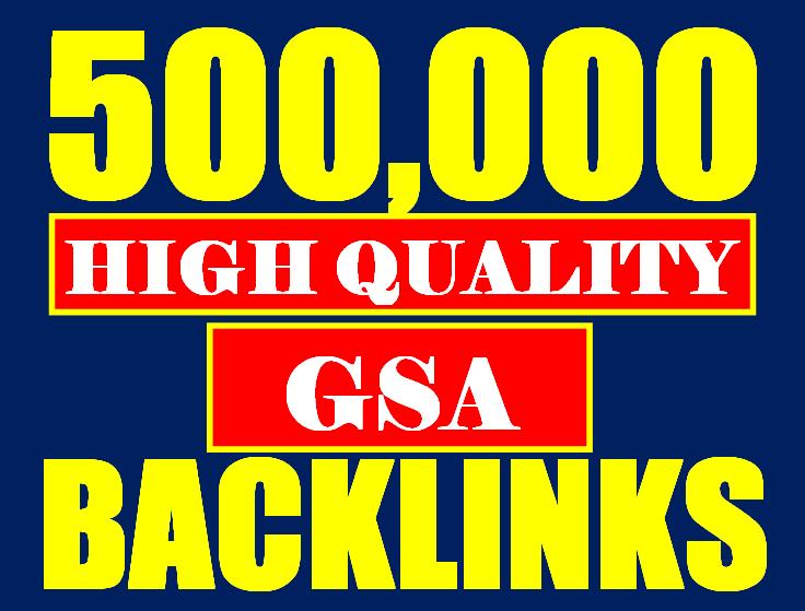 500k gsa ser backlinks for faster ranking website, page, video