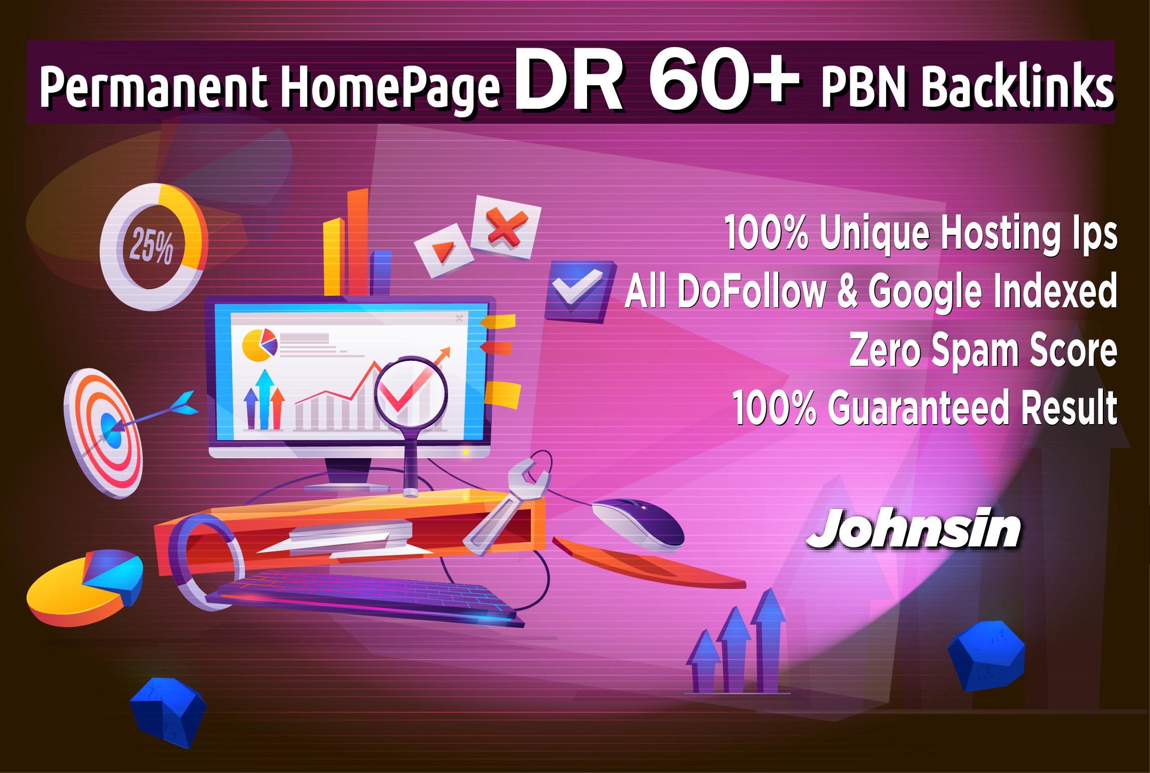 Create 10 PBN Permanent DR 60+ Homepage PBN Dofollow Backlink