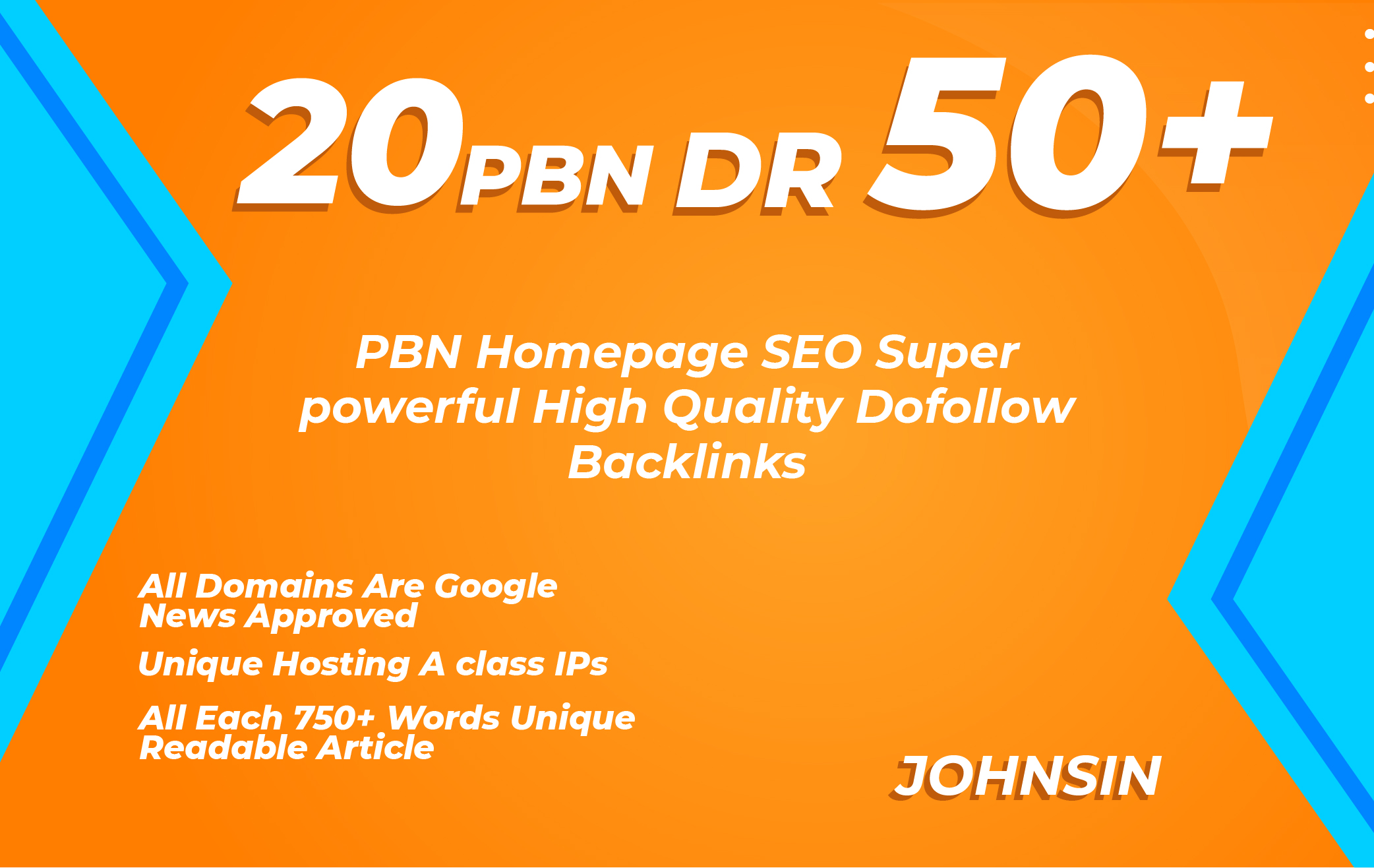 Provide 20 PBN Dr 50+ Homepage Dofollow PBN's Backlinks