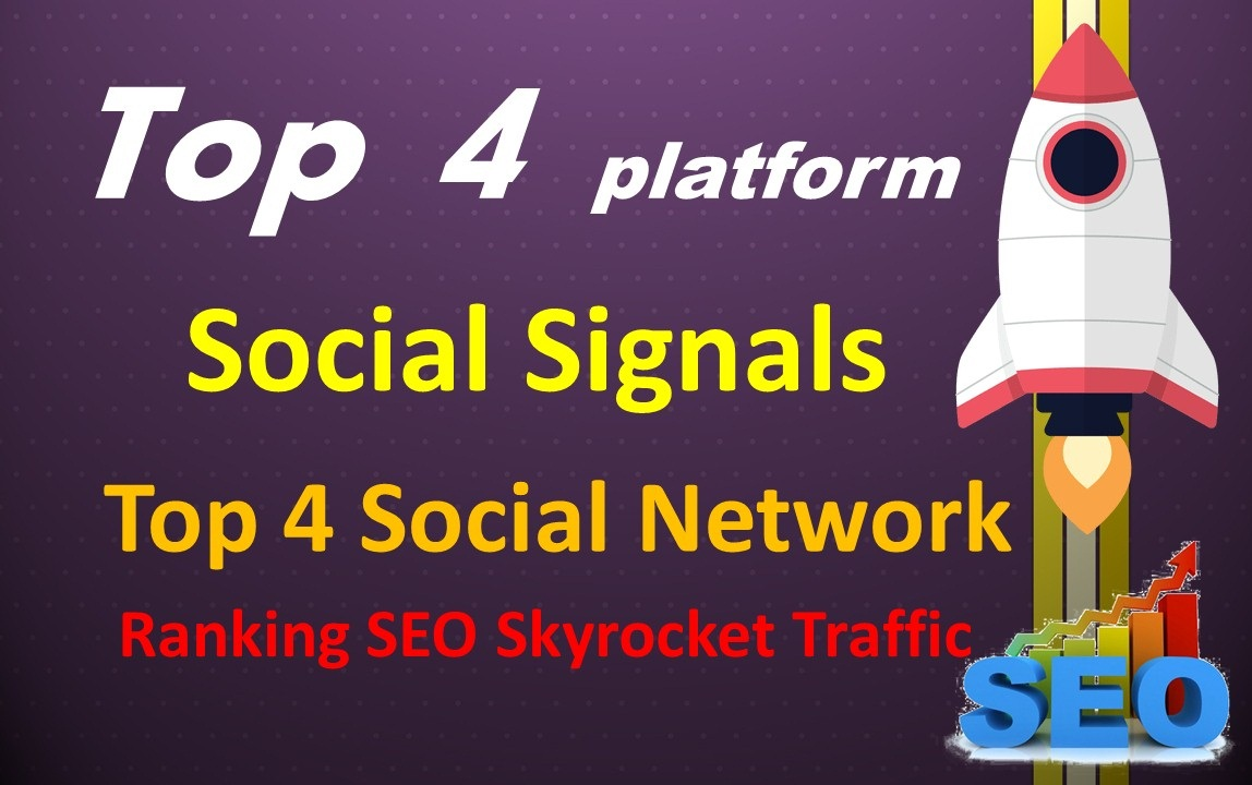 Top 4 Network 10,000 Social Signals To Your Website