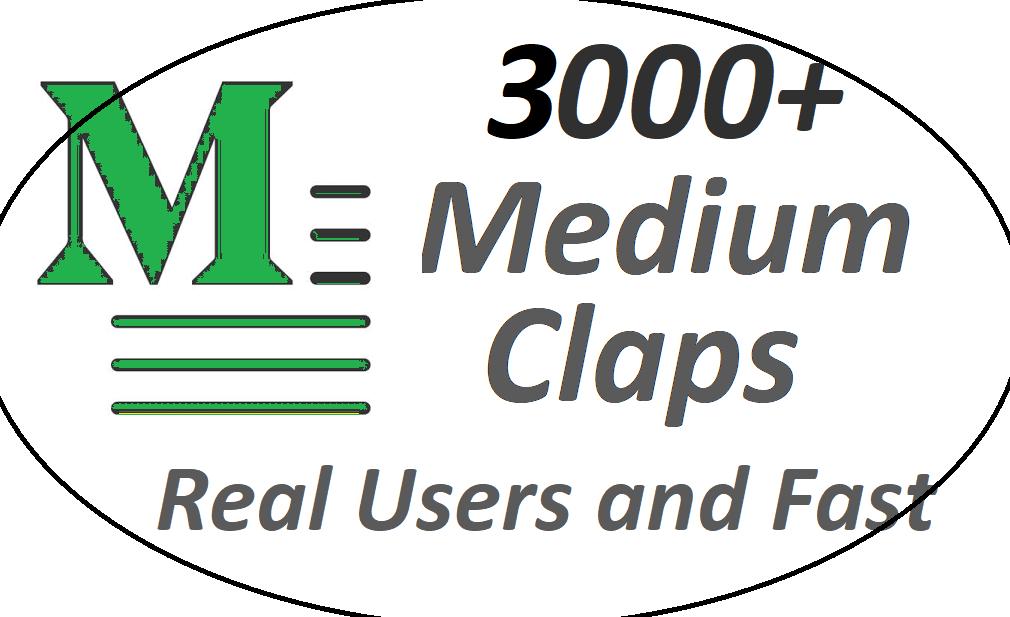 Get set you 3000+ Medium Claps on your Medium Article medium