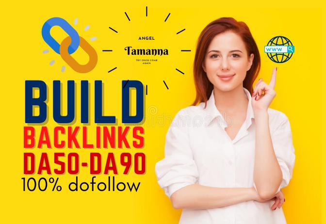 Rank Your Site On Google 1st Page Using DA70-DA98 Dofollow SEO Backlinks