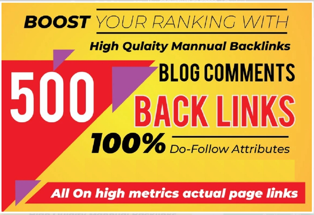 I will do 500 manually high da blog commenting