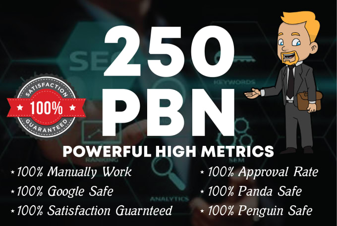 I will do 250 manual unique domain homepage pbn backlinks