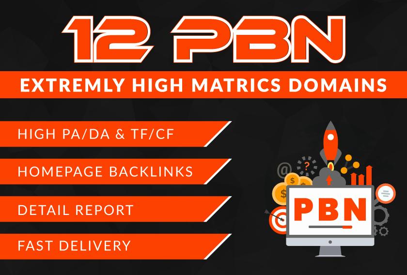 I will create high PA/DA TF/CF Homepage PBN backlinks