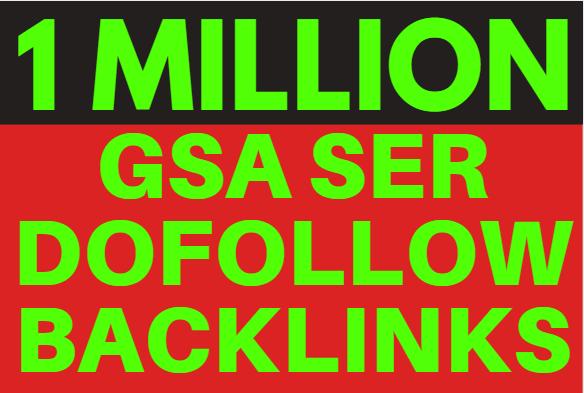 1M GSA SER Backlink Ranking your website