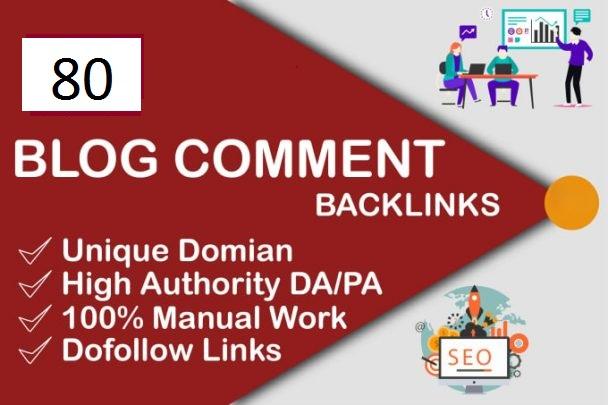 create 80 maunal dofollow backlinks with high DA PA