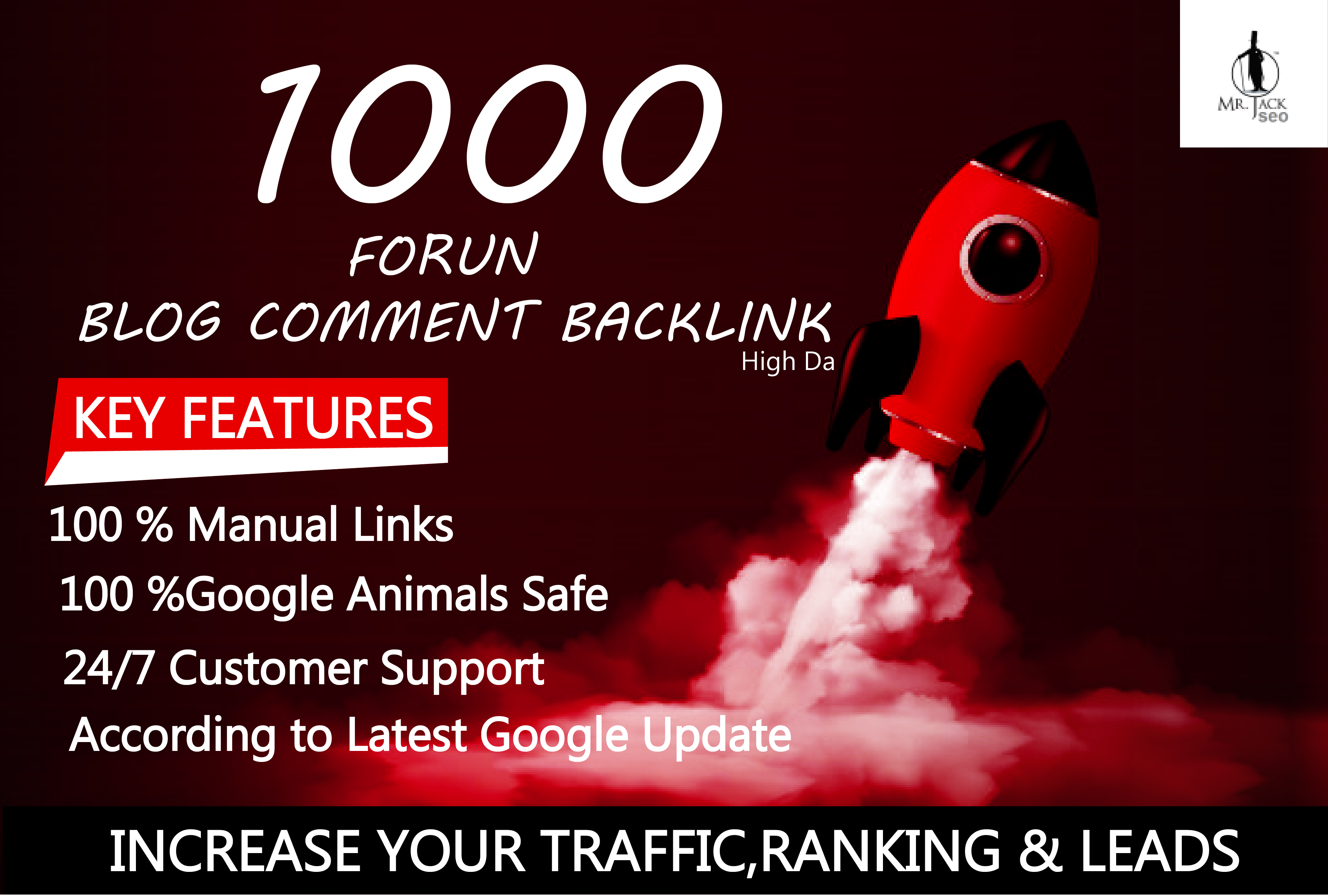 1000 forum Blog Comment Backlinks High DA