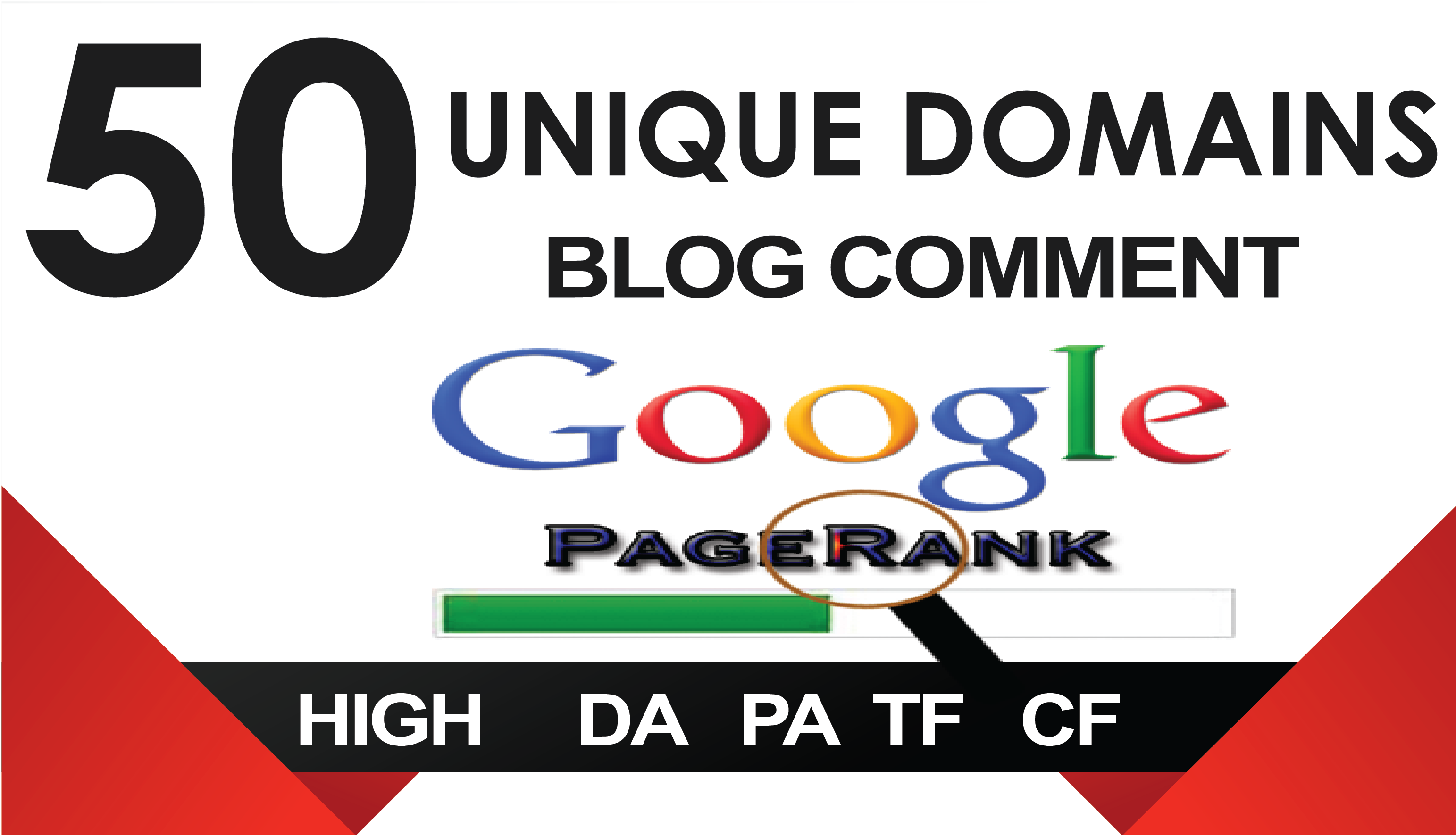 I will 50 unique domains blog comments backlinks High DA, PA, TF, CF