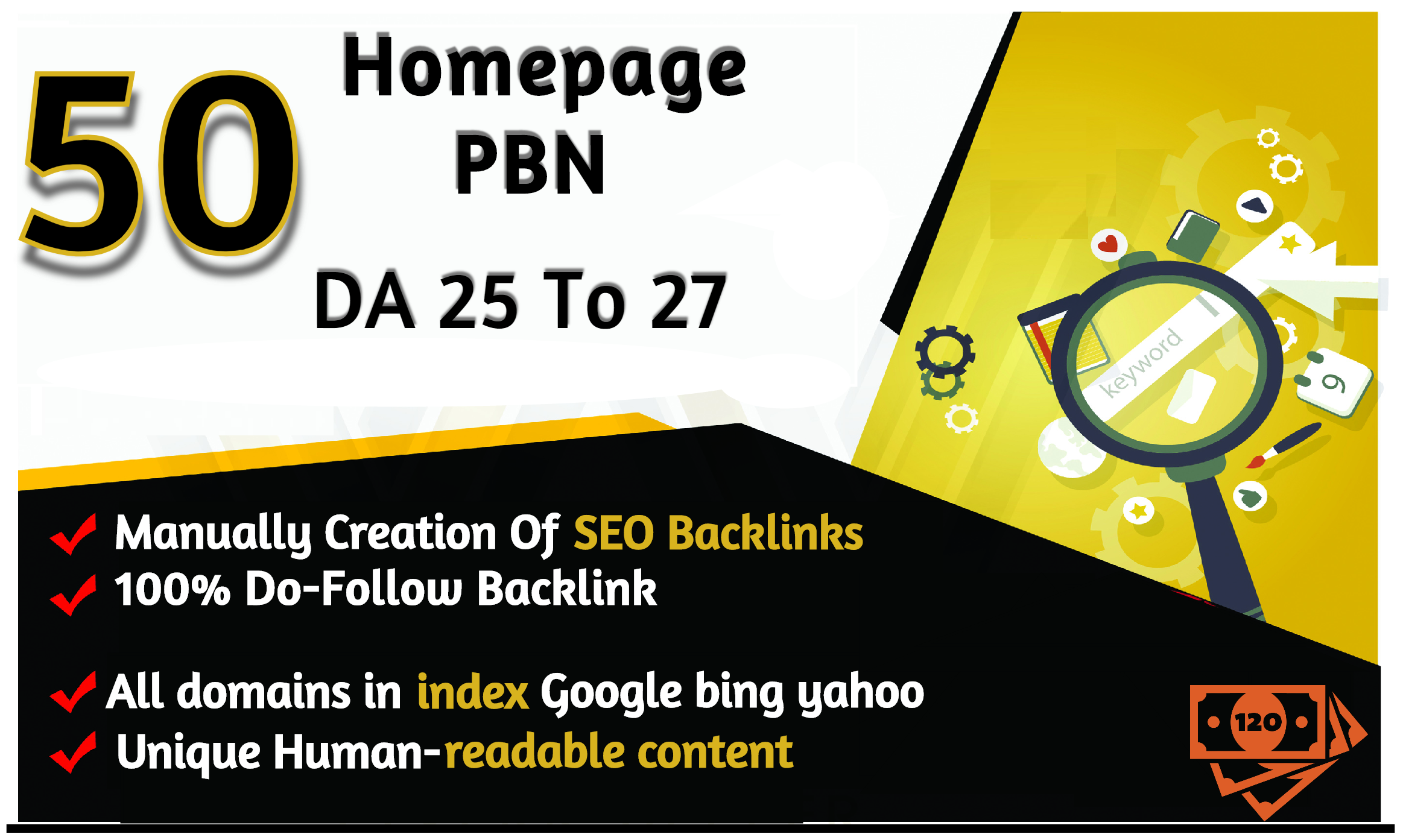 Build 50 Permanent DA 25To27 Homepage PBN Dofollow High Quality Backlink