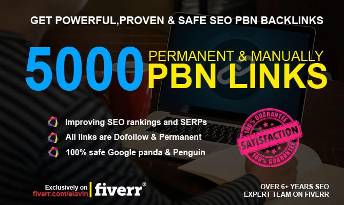 5000 dofollow pbn SEO backlinks for google ranking fast delevery