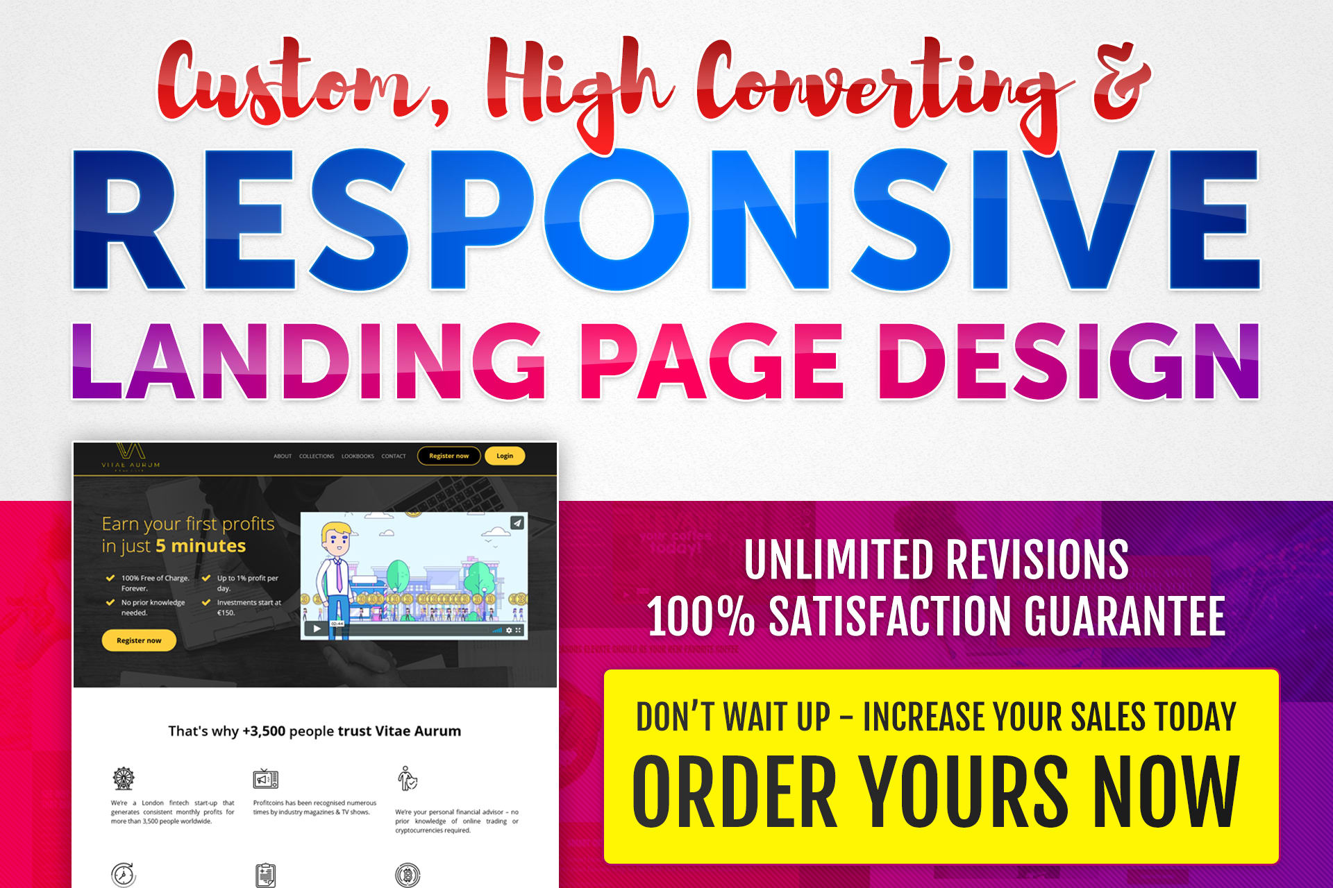 I will create stunning landing page design.