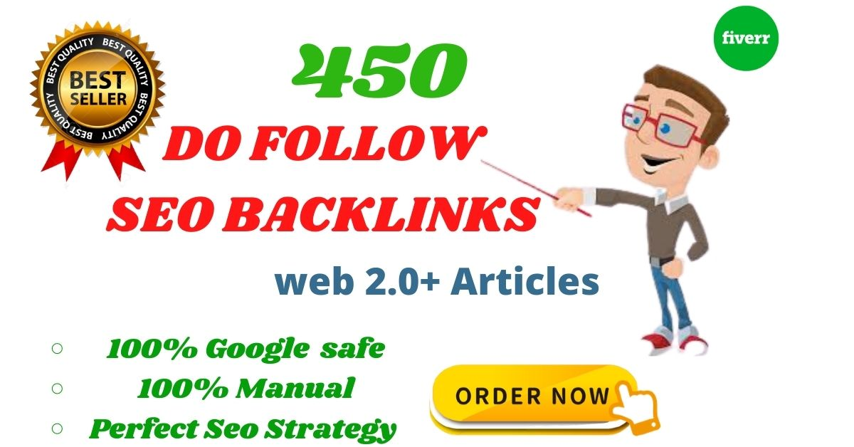 Evaluate your site ranking with 450 high DA SEO backlinks building