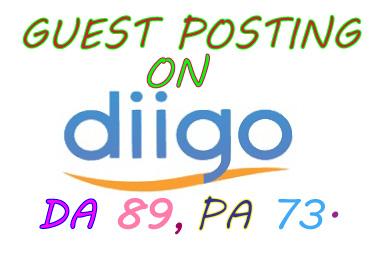 I will write your article and publish a guest post on diigo. com or Diigo