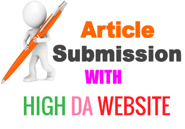 I will provide you 15 article submission SEO backlinks with High DA website