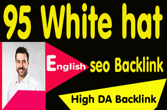 95 high authority white hat SEO backlinks & link building for ranking boost
