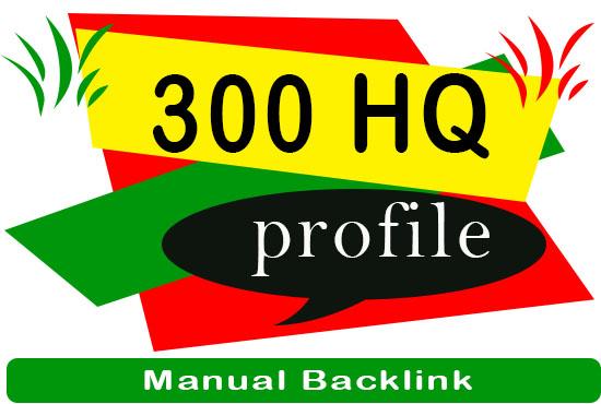 300 Manual HQ DA profile backlinks service for google top ranking