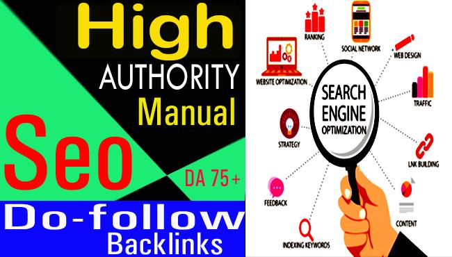 high authority manually SEO do follow backlinks for google rankings