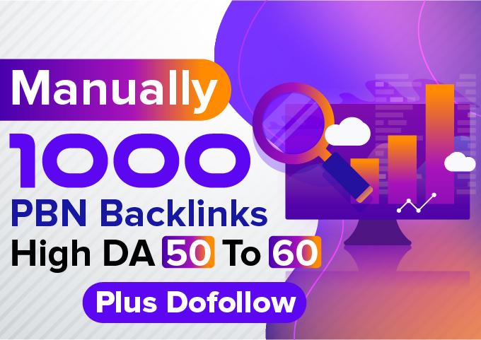 All Niche Accept 1000 PBN Backlinks High DA 50 To 60 Plus Dofollow PBN Backinks