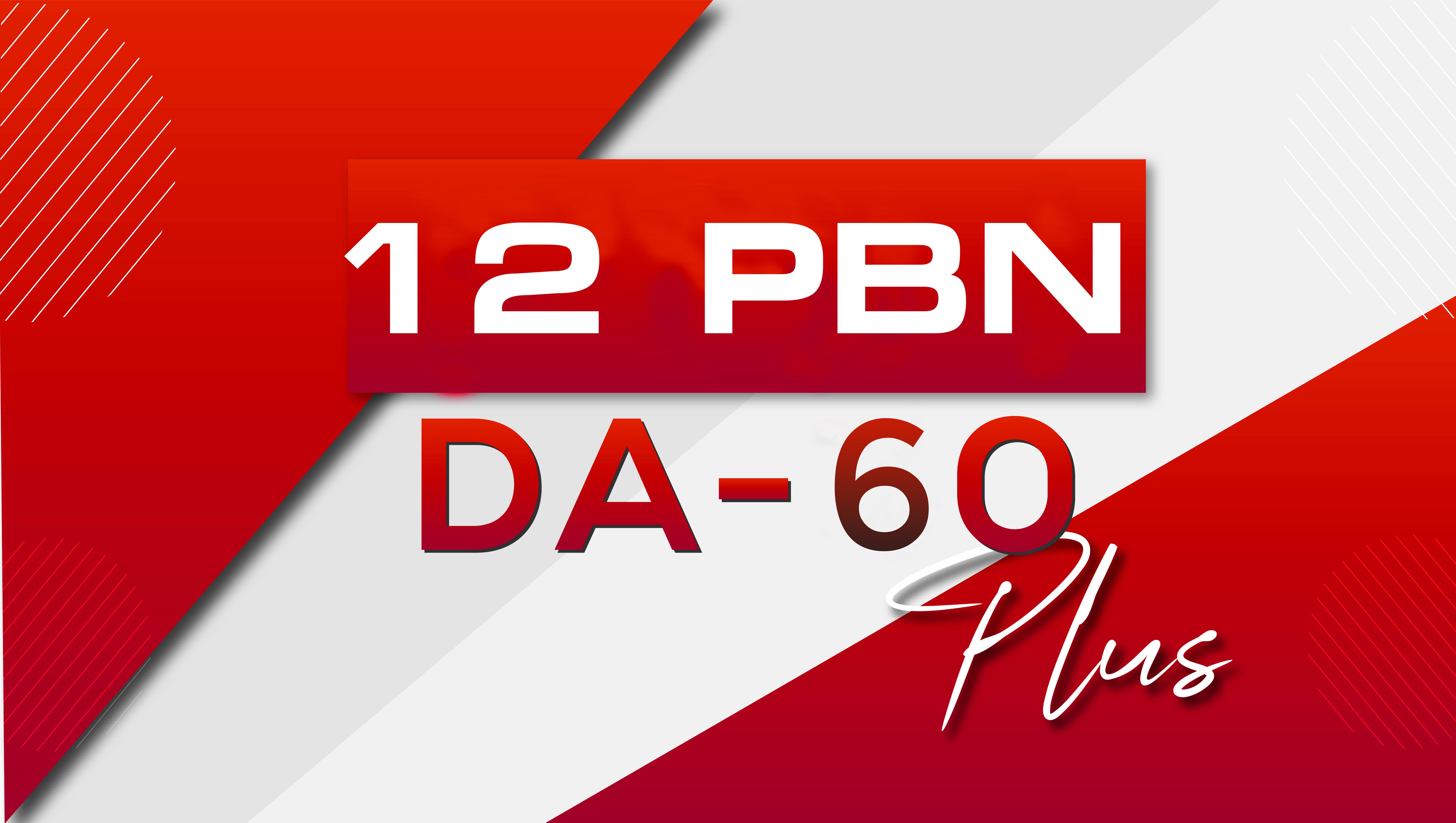 Make 12 Manual PBN Backlinks High DA 60 Plus Dofollow and indexed
