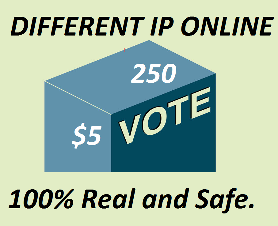 I can Provide 250 USA Different IP,  s Online contest Votes