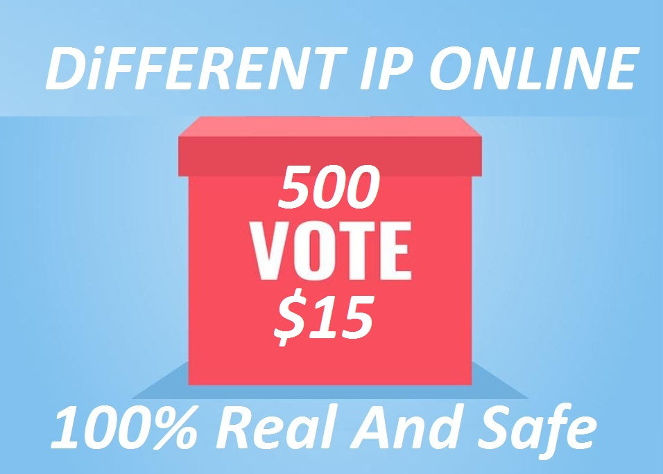 I can Provide 500 USA Different IP,  s Online contest Votes