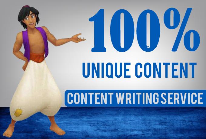 Unique Content Writing Service for your Blog/Website