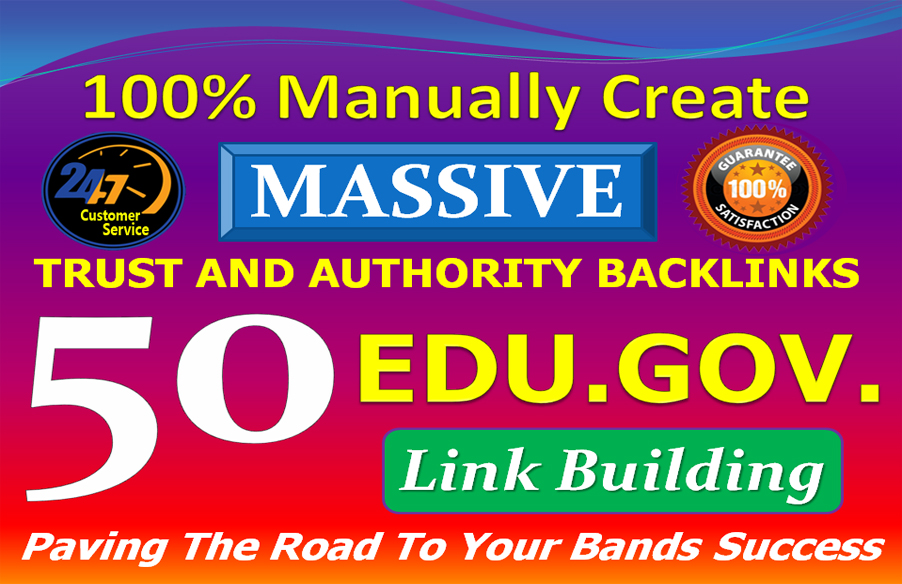 I will provide High Quality 30 Dofollow & 20 Edu. Gov Link building SEO Authority Profile Backlinks