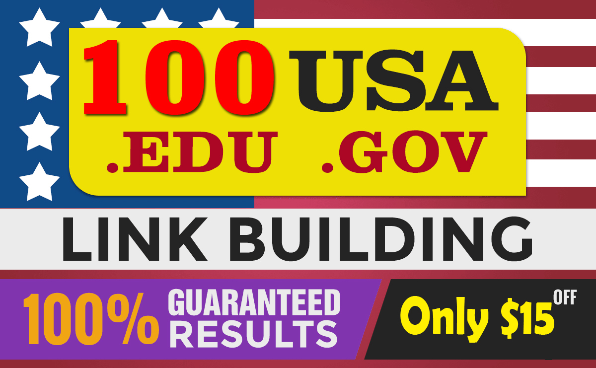 Top google ranking with 100 USA Pr9 from high quality Edu. Gov SEO Profiles Backlinks,  link building