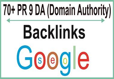 I will expertly Get you 70+ PR 9 DA domain authority Backlinks